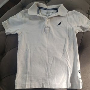 Nautica collar button short sleeve shirt for boy